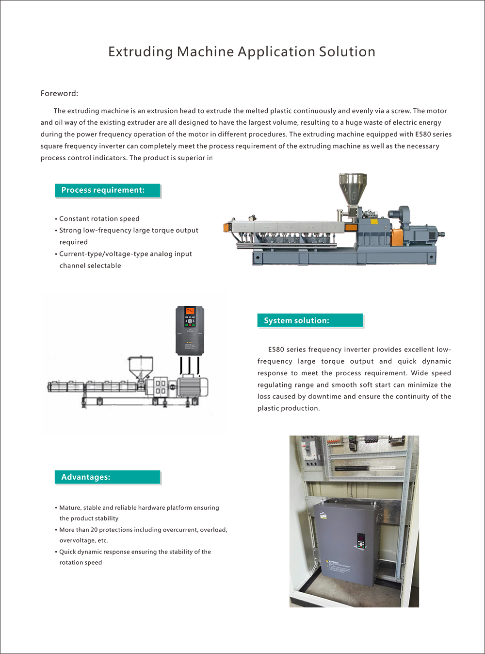 application of extruding machine